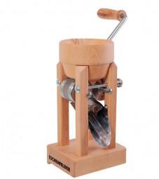 Korn - Quetsche, Tischmodell mit Holztrichter, Buche